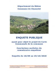 Conclusions Chamelet Carte Communale